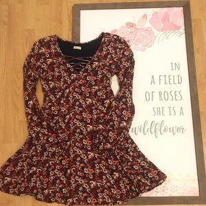 Hollister Flower Print Dress Xs